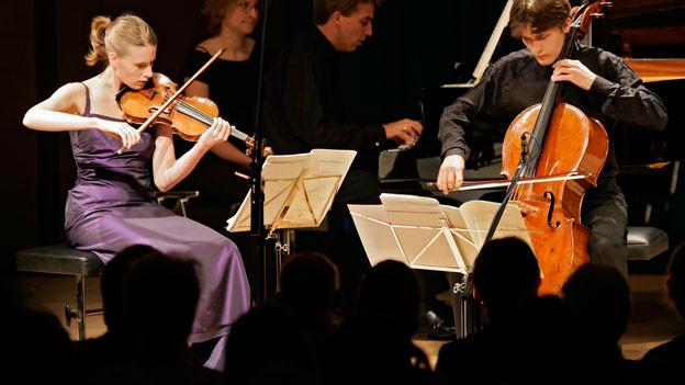 Edith Hoppe mit dem Techler Trio
