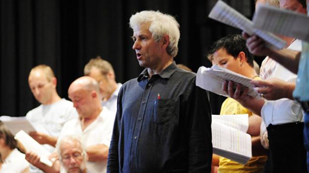 Noldi Alder, während einer Probe zu seinem Musik-Tanz-Theater «Loba» in St. Gallen.