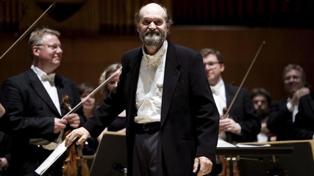 Der Estnische Komponist Arvo Paert.