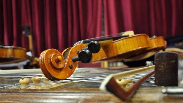 Die Geige, das Instrument der Nachwuchshoffnung Sergey Khachatryan.