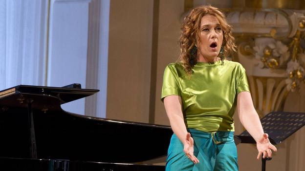Magdalena Kozena auf der Bühne.
