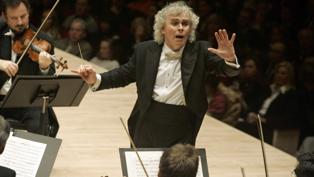 Simon Rattle am Dirigentenpult