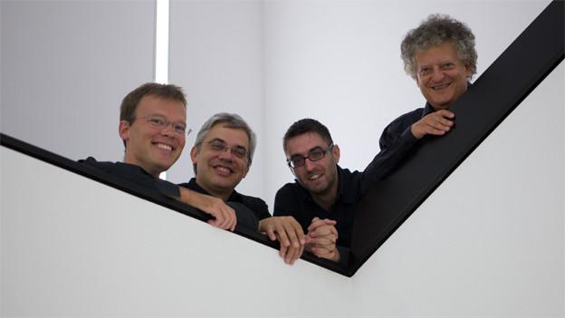 Das Arditti Quartet mit Irvine Arditti (rechts).