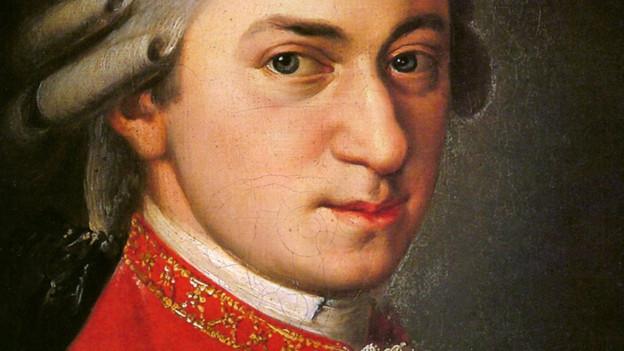 Gemälde, das Mozart zeigt.