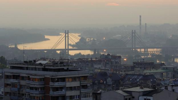 Panoramablick auf Belgrad.