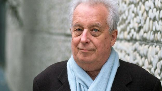 Porträt des Komponisten Dieter Schnebel.