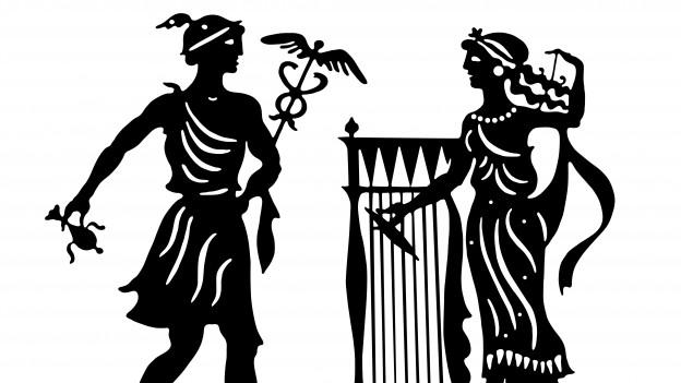 Illustration von griechischen Göttern.