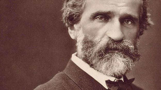 Fotografie von Giuseppe Verdi aus dem Jahre 1870.