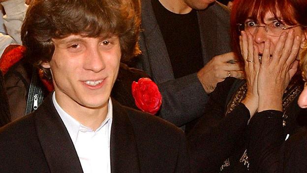 Rafal Blechacz bei der Siegerverkündung am Chopin-Wettbewerb 2005 in Warschau.