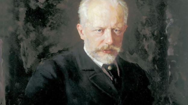 Peter Tschaikowsky auf einem Ölgemälde von 1893.