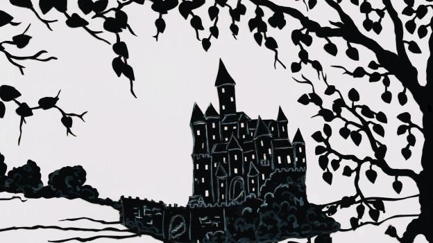 Eine Illustration eines Schlosses