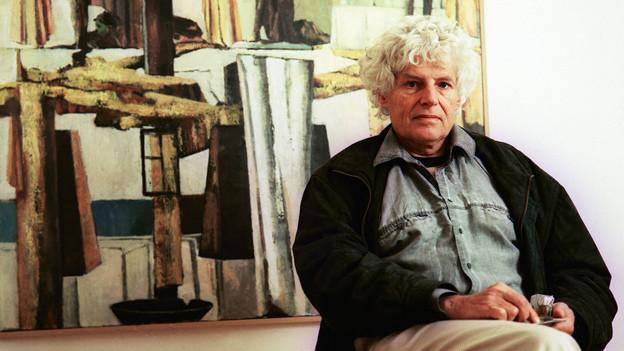 Autor Jörg Steiner, aufgenommen in Biel im 1997.