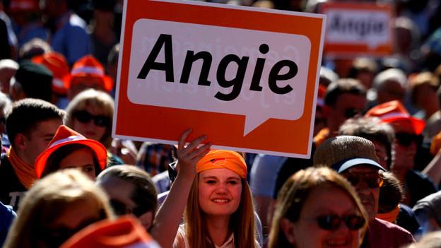 Sie lieben ihre «Angie»: Merkel_Fans.