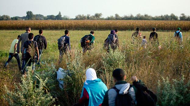 Flüchtlinge auf dem Weg nach Europa.