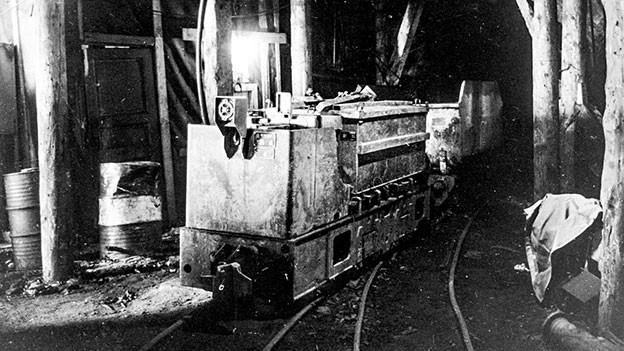 Im Kraftwerk von Bavona in den 1960er-Jahren.
