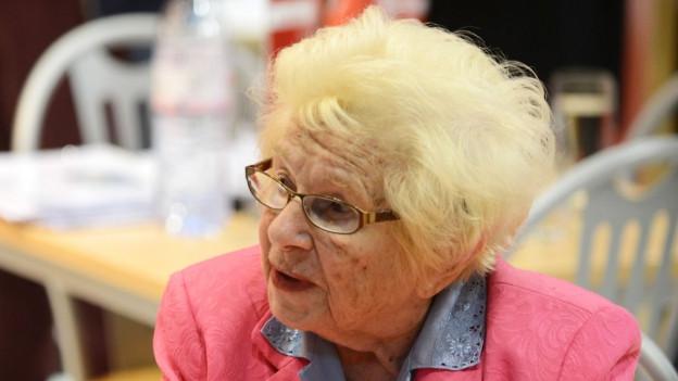 Porträt der Sexualtherapeutin Ruth Westheimer.