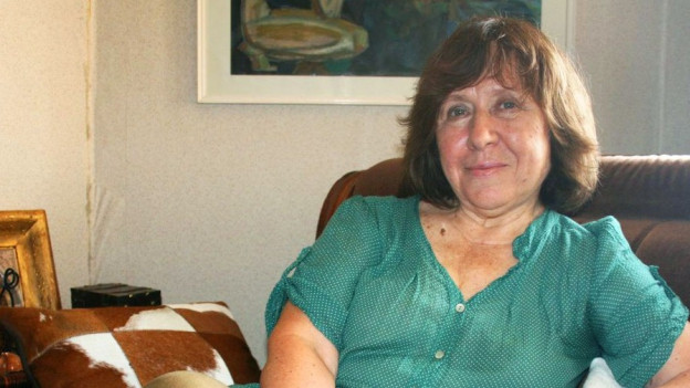 Porträt der Literaturnobelpreisträgerin Swetlana Alexijewitsch.