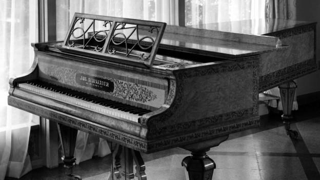 Streicher-Fortepiano mit sieben Oktaven um 1851.