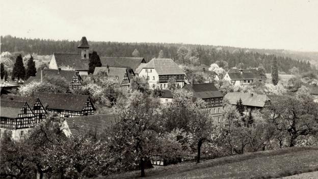 Das Dorf Tautenhain im Thüringer Holzland.