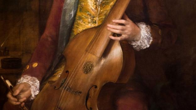 Karl Friedrich Abel spielt auf einer Viola da Gamba