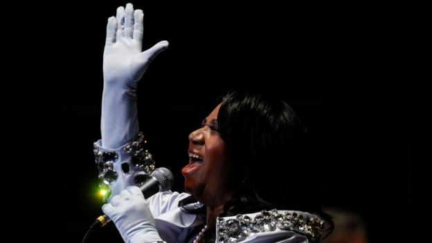 Aretha Franklin bei einem Konzert