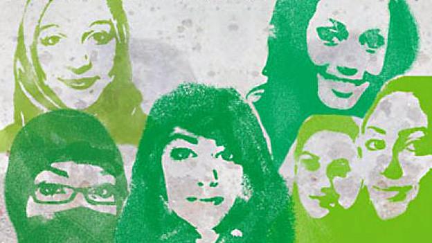 Ausschnitt aus dem Buchcover von «Muslim Girls».