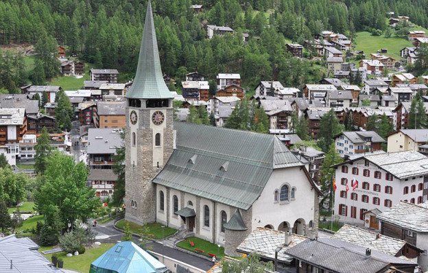 Pfarrkirche St. Mauritius Zermatt.