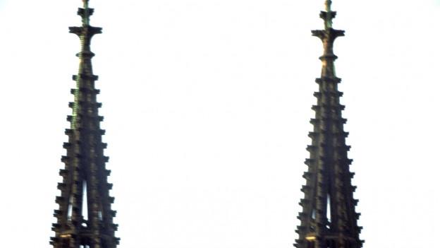 Die Turmspitzen des Kölner Doms