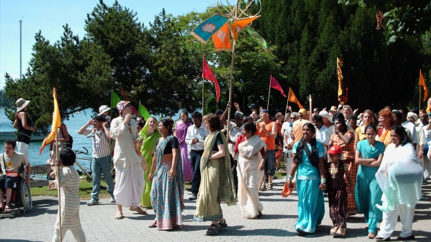 Hare Krishna Umzug in Zürich, Juli 2008.