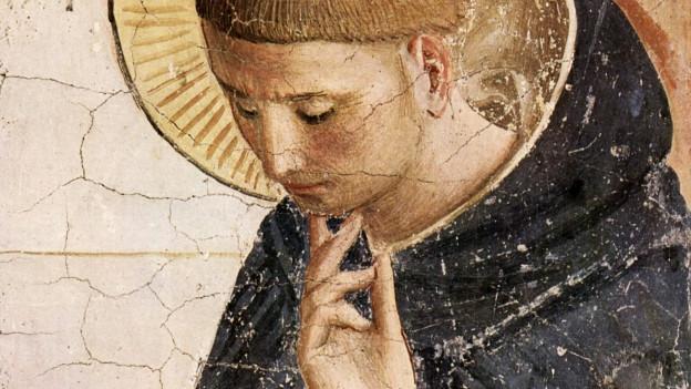 Dominikus in einem Fresko.