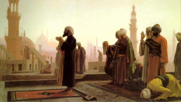 Gemälde von Betenden in Kairo.