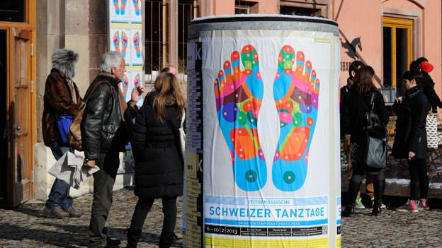 Bildlegende: Während 5 Tagen haben 19 Compagnien aus der ganzen Schweiz in Basel ihre neuesten Produktionen präsentiert.