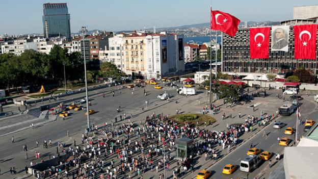 Die Staatsmacht gegen das Volk: Der Taksim-Platz im Juni 2013.