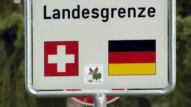 An der Grenze zwischen Basel und Lörrach.