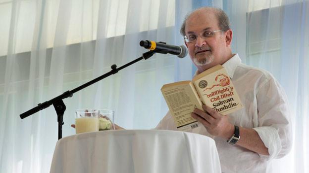 Salman Rushdie am Literaturfestival in Leukerbad, 6. Juli 2013.