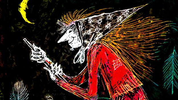 Die kleine Hexe: Aus dem «Negerlein» im Fasnachtsumzug wird ein Messerwerfer.