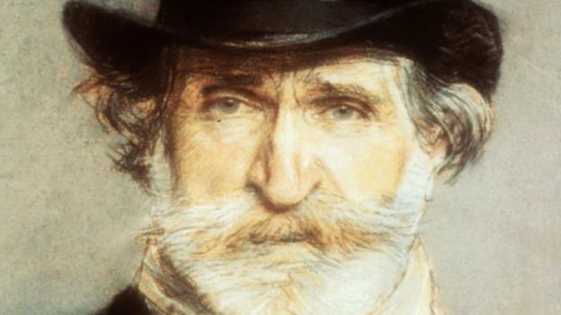 Giuseppe Verdi, gemalt von Giovanni Boldrini.