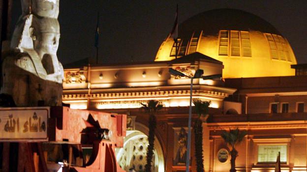 Fassade des Ägyptischen Museums in Kairo.
