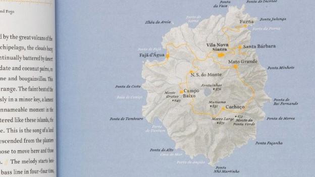Buchgestaltung des «Atlas der abgelegenen Inseln» von Judith Schalansky.