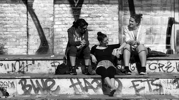 Jugendliche in Berlin Kreuzberg.