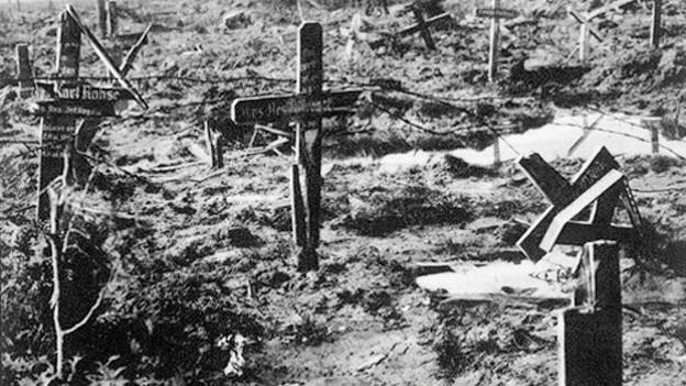 Ein Beispiel tradierter Bilder in der Zwischenkriegszeit: Kriegslandschaft nach der Schlacht.