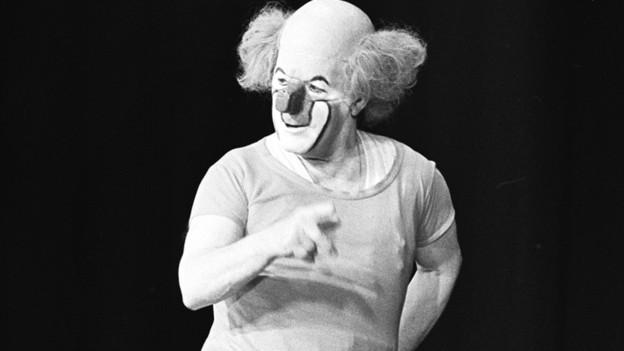 Der Clown Charlie Rivel im Dezember 1972 in Zürich.