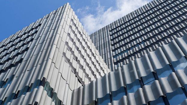 Blick auf eine moderne Häuserfassade