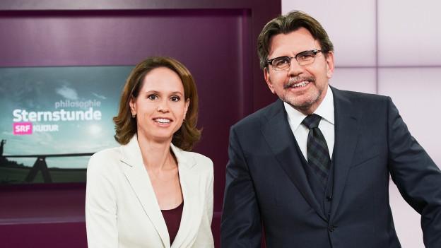 Barbara Bleisch und Stephan Klapproth im Studio.
