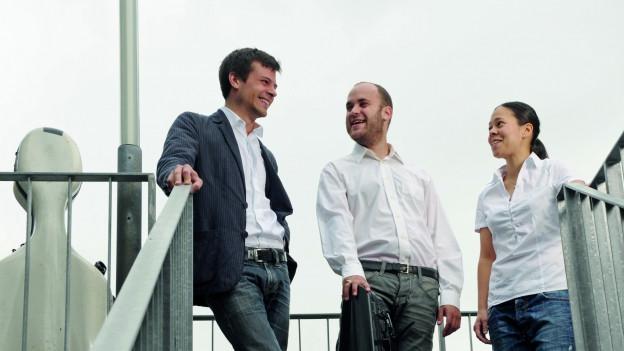 Das Trio Rafaele: Flurin Cuonz, Daniel Meller und Maki Wiederkehr.