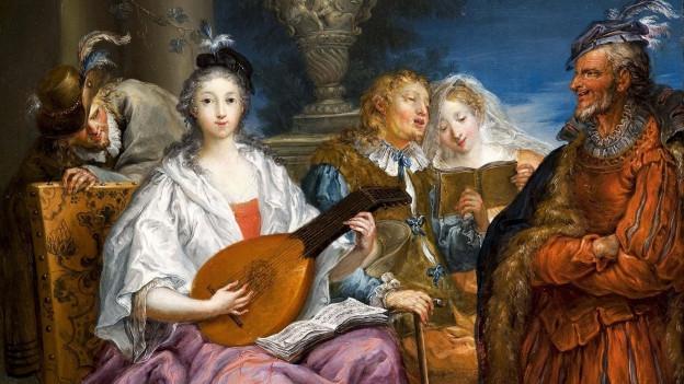 Gemälde von Johann Georg Platzer (ca. 1740): Das Konzert.