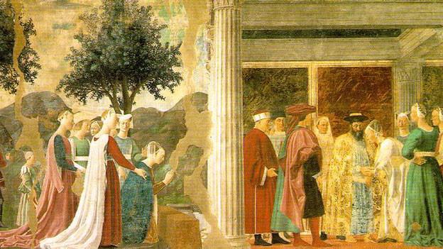 Ein Fresko von Piero della Francesca.