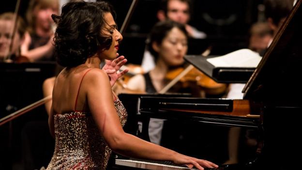 Khatia Buniatishvili am Klavier.
