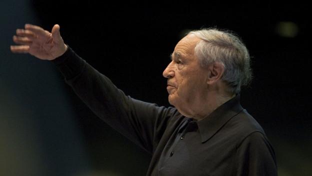 Pierre Boulez mit dem Orchester der Lucerne Festival Academy