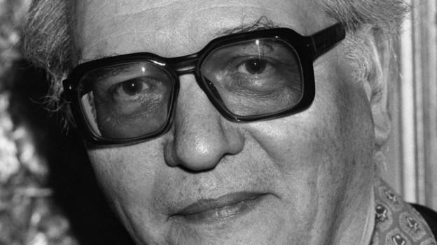 Porträt des französischen Komponisten Olivier Messiaen.